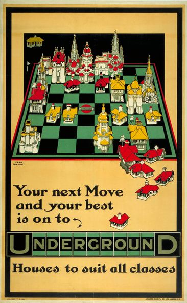 Your next move, chessboard, by Fred Taylor, 1914