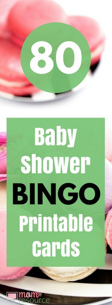 Baby Shower Bingo Printable Cards - 80 baby shower bingo printable cards and a few free printable cards too. These baby shower bingo printable cards are perfect for baby boys or baby girls. Mom to be will love these cards