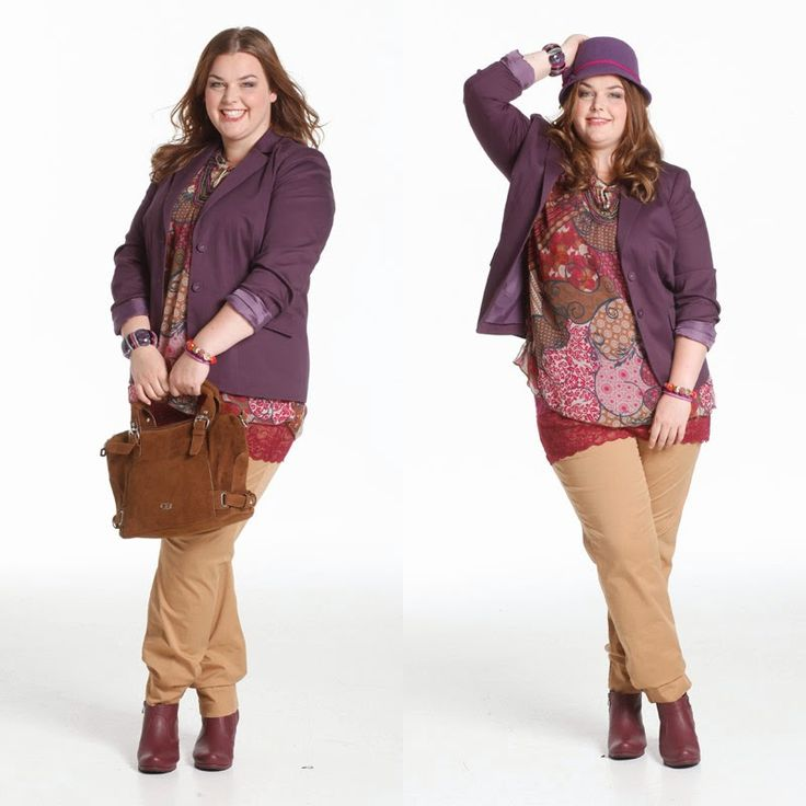 Sheego-Outfit in Beerentönen mit lila Blazer | Plus Size Fashion Outfit