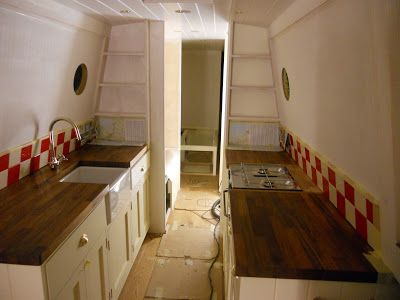 galley kitchen - this is a really good blog about restoring a boat