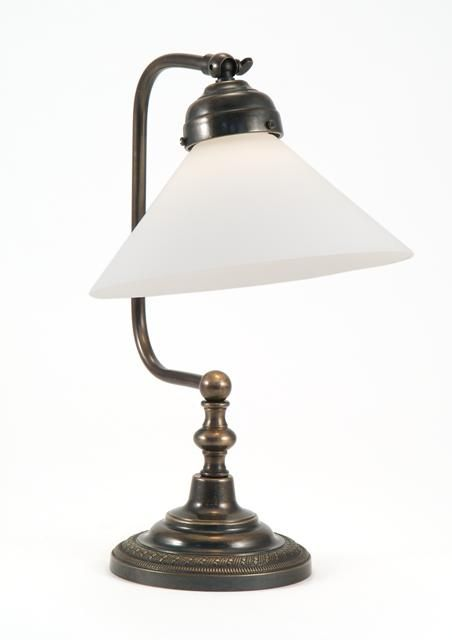 Luxury Lighting Supply Classic's Croft Bedside Lamp With Glass Coolie Acid Etched White Shade. Hand Made In England From Solid Brass. Table & Bedside Lamps To Suit All Styles And Budgets.
