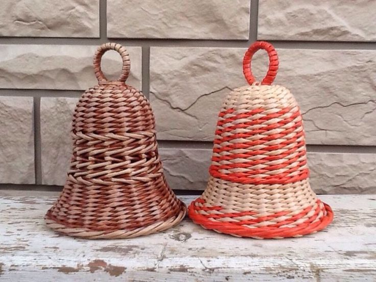 Купить Колокольчик - колокольчики, плетёный колокольчик, корзины, подарок, новогодний подарок, Бумажная лоза