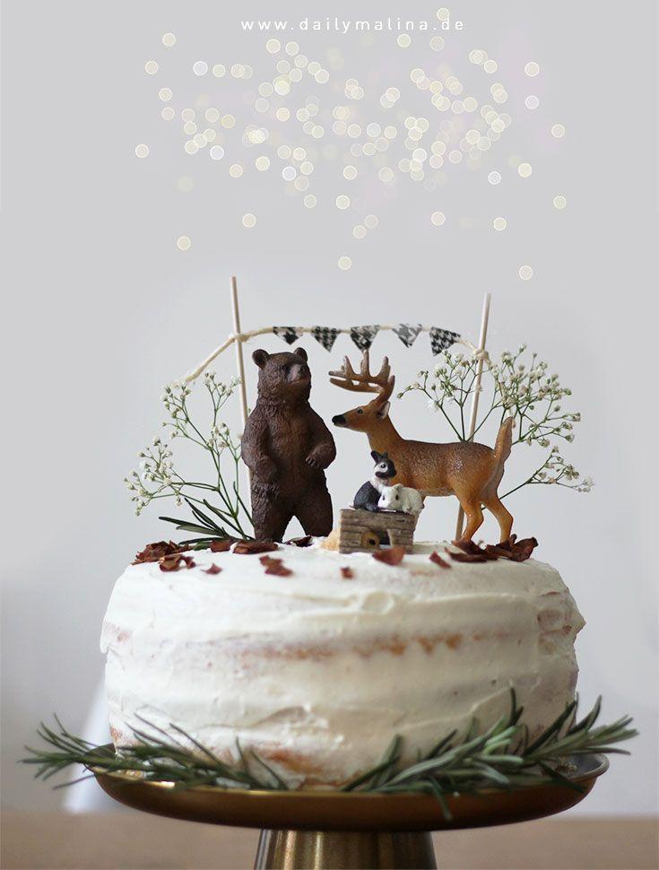 Geburtstagstorte Die Tiere Des Waldes Naked Cake Mit Mascarpone