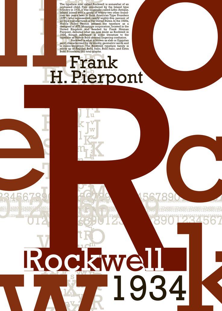 29 best Rockwell lettertype images on Pinterest ...