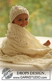 Ravelry: b17-28 Hat and blanket with cable pattern pattern by DROPS design