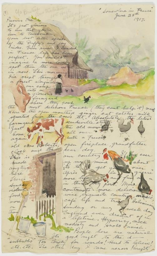 Louis Vasco's unexpectedly beautiful letters from WWI.