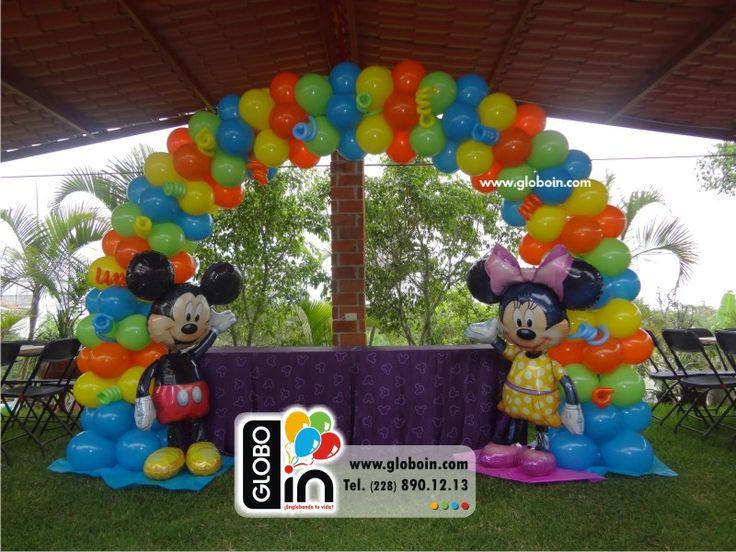 Arco de globos de mickey y minnie mouse globos de mickey - Globos para fiestas ...
