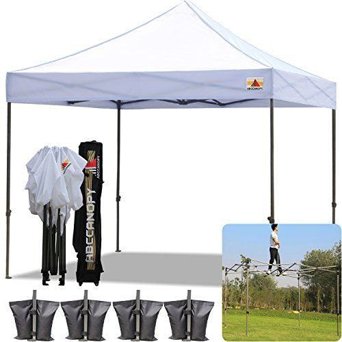 AbcCanopy 10x10 Pop up Tent Instant Canopy Commercial Outdoor Canopy with Wheeled Carry Bag and 4x  sc 1 st  Pinterest & The 25+ best Instant canopy ideas on Pinterest | First up canopy ...