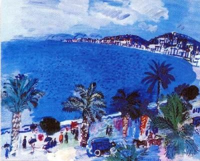 NICE BAIE DES ANGES      BAY OF ANGELS          PAINTING BY RAOUL DUFY