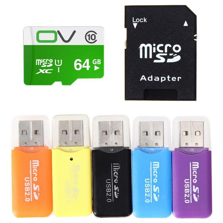 est High Speed 8GB Micro SD TF Flash Storage Memory Card 64GB