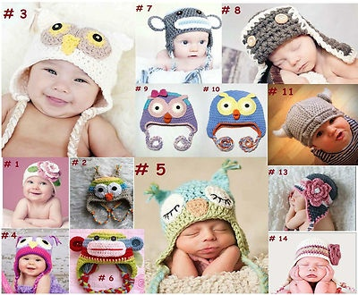 http://www.ebay.com.au/itm/Baby-Boy-Girl-Animal-Owl-Beanie-Child-Photo-Crochet-Knit-Costume-Hat-Cap-Prop-/290892480387?pt=AU_Baby_Clothing==item8965b2ed2e These cute looking handmade with love caps made from wool  great for your new born baby or toddler for photo shoot or keeping your baby warm in cold winters. Please visit my store for different designs and sizes. Perfect gift for baby showers.  ONLY $9.45