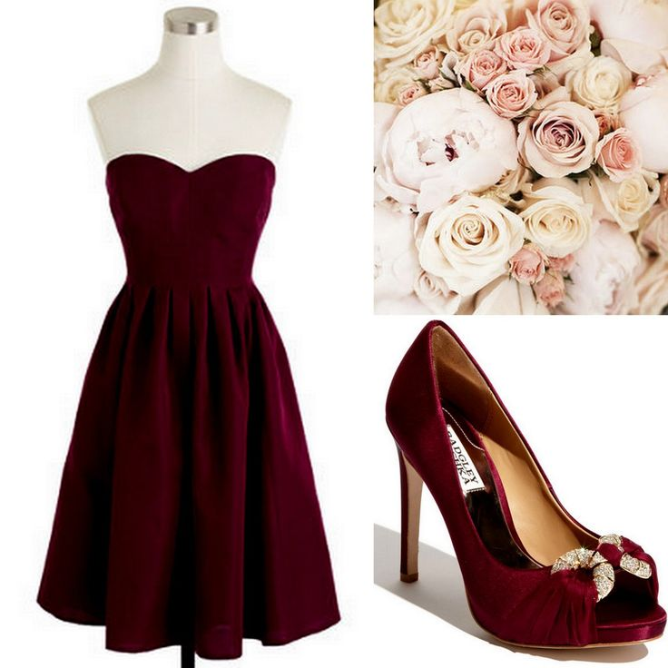 Cranberry-Red-Bridesmaid Dress Ideas-Lisa Sammons Events, J. Crew, Badgley Mischka BUT WITH BOOTS INSTEAD OF HEELS