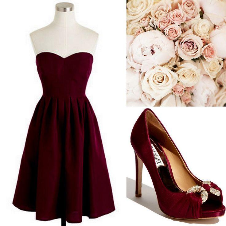 Cranberry-Red-Bridesmaid Dress Ideas-Lisa Sammons Events, J. Crew, Badgley Mischka