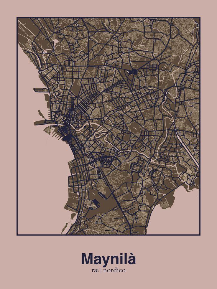 Manila Philippines Map Print 101 best City