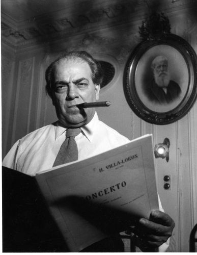 Heitor Villa-Lobos photographed by Sabine Weiss.