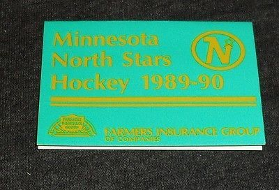Rare minnesota #north stars #hockey 1989 vintage #sports schedule, wild,  View more on the LINK: 	http://www.zeppy.io/product/gb/2/331827690648/