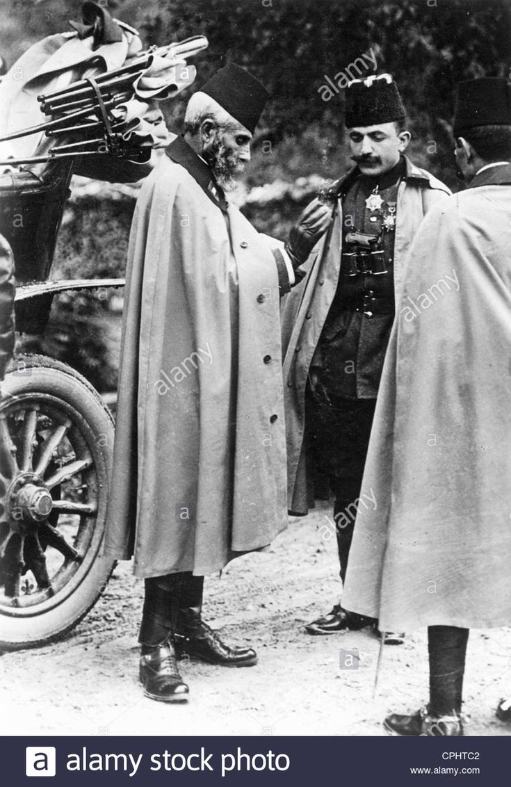 Download this stock image: Mahmut Schefket Pasha and Enver Pasha, 1908 - CPHTC2…