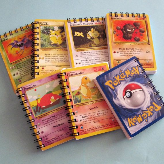 Mini Pokemon Notebook  Recycled Trading Cards by StalkingMarla, $2.50