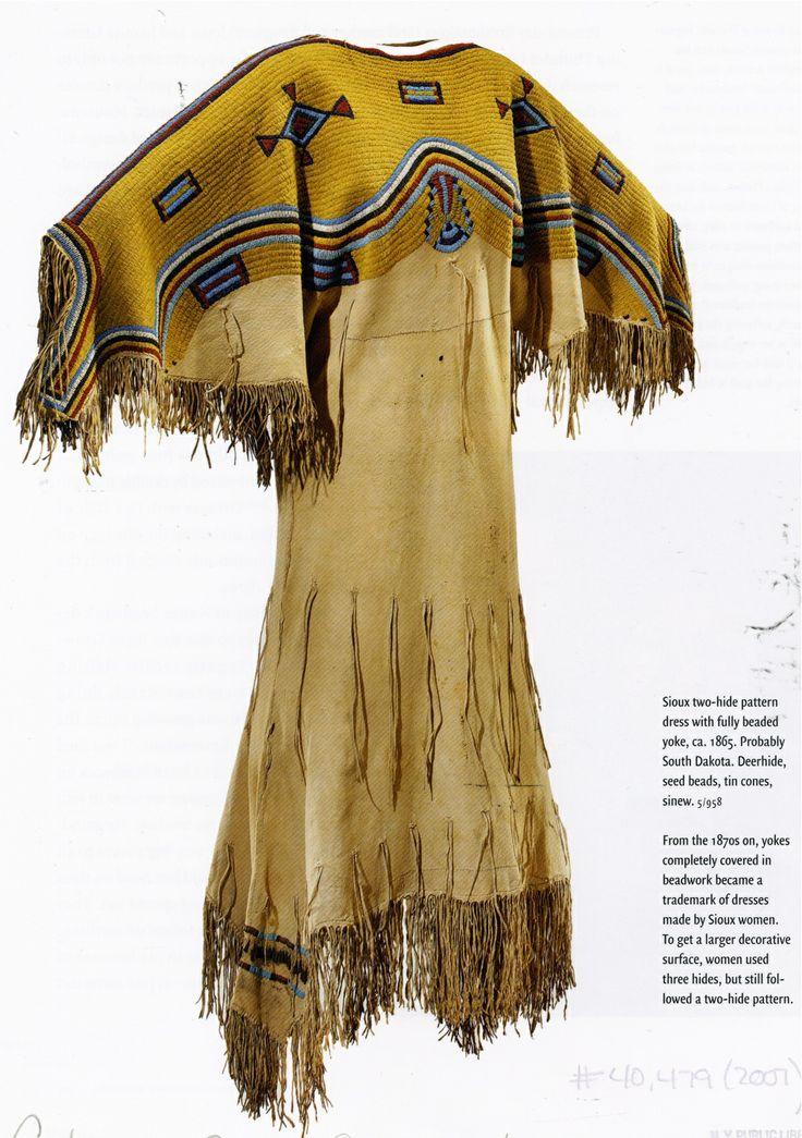 Sioux dress, c. 1865.