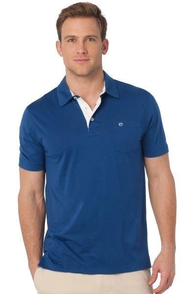 SOUTHERN Tide 2XL Polo SHIRT Blue PIMA Cotton XXL Mens LOGO Size SZ Club GFG Man #SouthernTide #PoloRugby