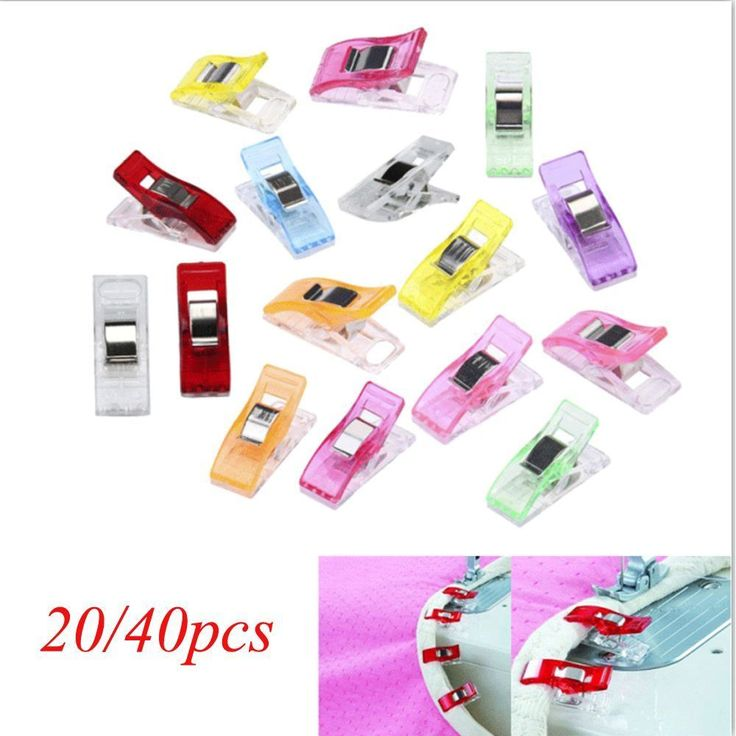 20Pcs Craft Sewing Clamps Quilt Binding Plastic Clips