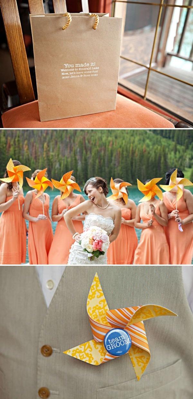 #pinwheel #wedding  Canadian Rockies Wedding by Orange Girl Photographs | Style Me Pretty