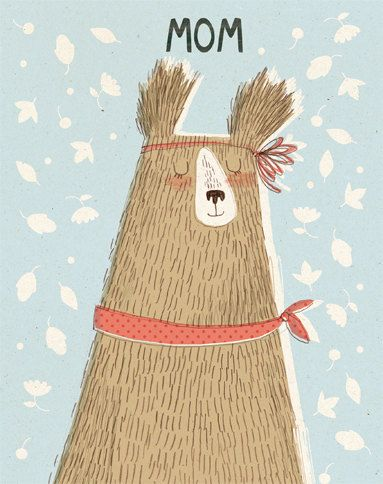 mom bearMomma Bears, Art Mom, Illustration Bears Mom, 3D Cartoons, Mothers Day Cards, Bears Illustrationart, Mom Bears, Cartoons Character, Kate Hindley
