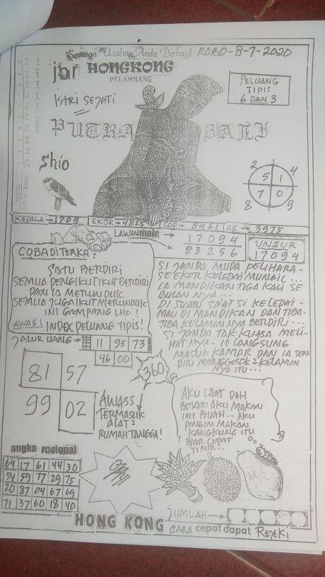 Syair putra bali sgp 5 mei 2021
