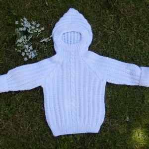 babytrøje i halvpatent