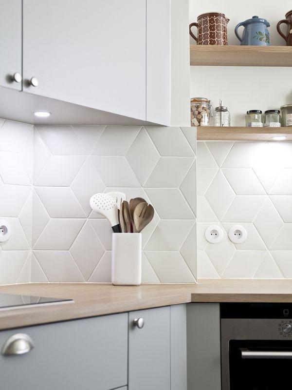 Splashback tiles - Carreaux Losanges Camille Flammarion X Normandy Ceramics, col.n°150S