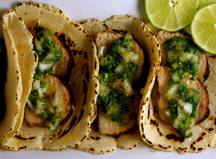 Tacos with Tomatillo Salsa Verde - just made these but used chicken ...