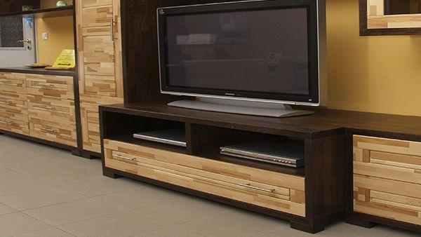 tv állvány-tömörfa-modern