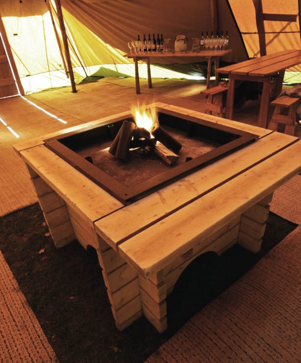our real fire with smokeless logs