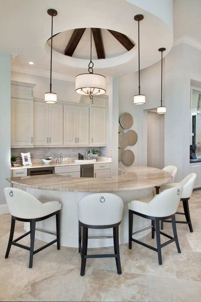 Folding Bar Stools with Under Cabinet Lighting Recessed Island Dark Wood Cabinets