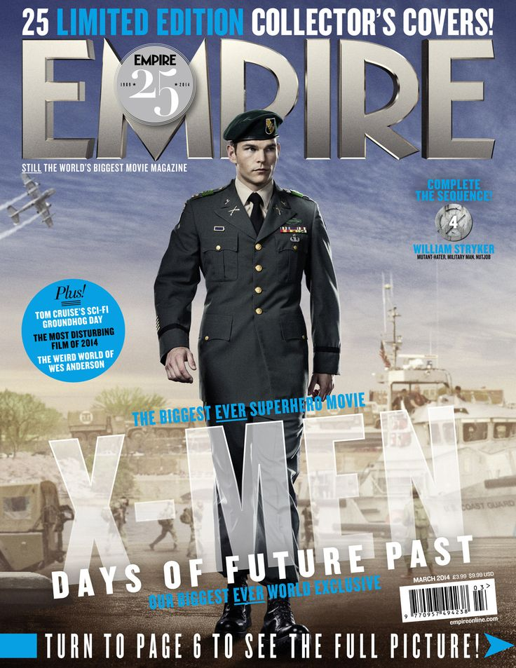 Sentinel, Trask, Toad, Havok  Stryker On 5 X-MEN: DAYS OF FUTURE PAST Empire Covers