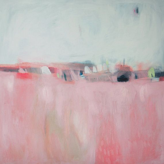 Pink Landscape  This is a limited edition fine art giclee print. It is printed on either Cotton Rag Paper or Canvas  Sizes in Fine Art Paper (Image