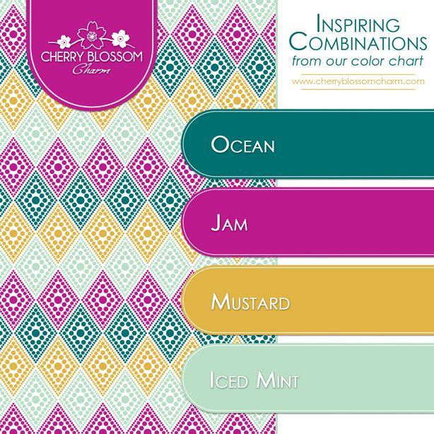 Color Combinations | Blue Green Mint Purple Mustard ...