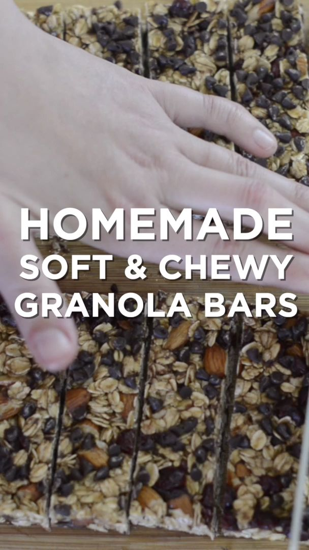 Simple, Soft and Chewy Granola Bars