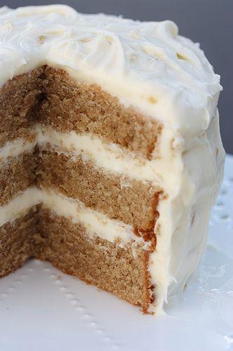 Chai Cake w/Honey Ginger Cream