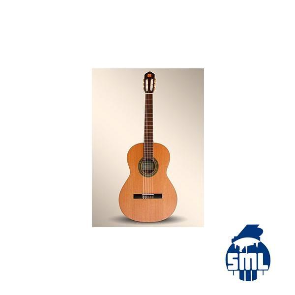 Guitarra Alhambra 2C tampo com tampo em cedro em cedro, fundo e ilhargas em sapelly .
