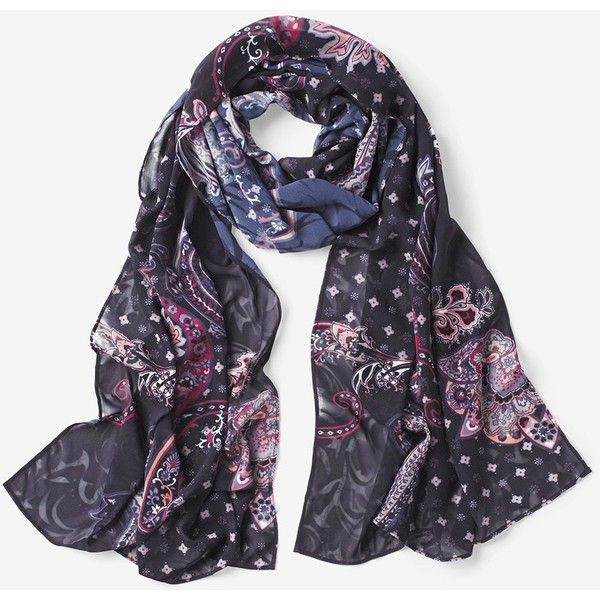 White House Black Market Paisley Oblong Scarf (62 CAD) ❤ liked on Polyvore featuring accessories, scarves, white house black market, pink shawl, paisley scarves, paisley shawl and pink scarves