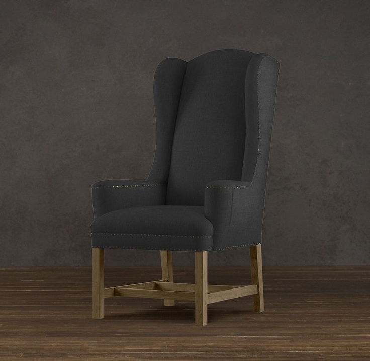 belfort wingback upholstered dining chair fabric arm u0026 side chairs restoration hardware