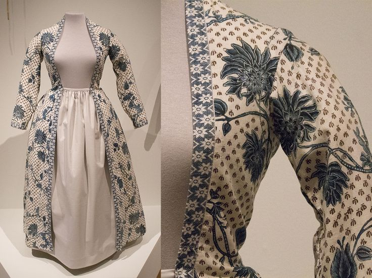 Wentke from Hindeloopen for light mourning. Cotton painted in India, 1750-1800.