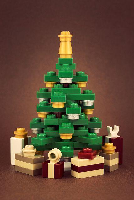 Christmas Tree made of Legos sweet