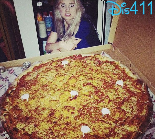 Photo: Debby Ryan With A Big Pizza May 14, 2014
