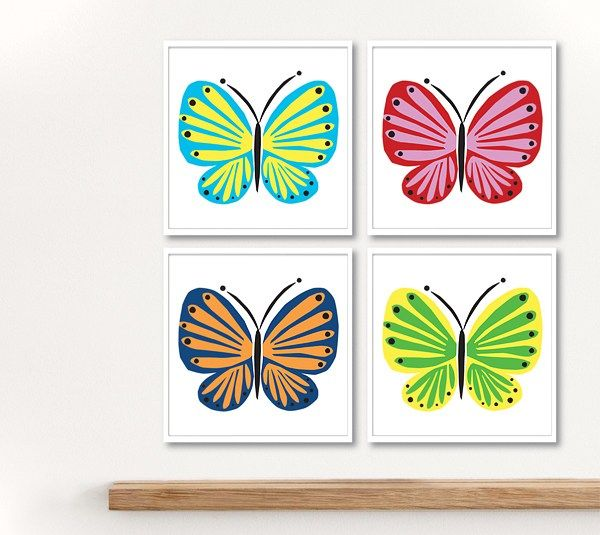 Wall Decor With Cricut : Butterfly wall decor art by rob and bob make it now with