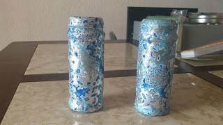 candelabro azul, que cosas más bonitas hago ehhhh
