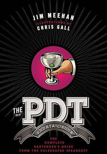 Awesome cocktail book!!! PDT - Please Don't Tell, is a NY bar.