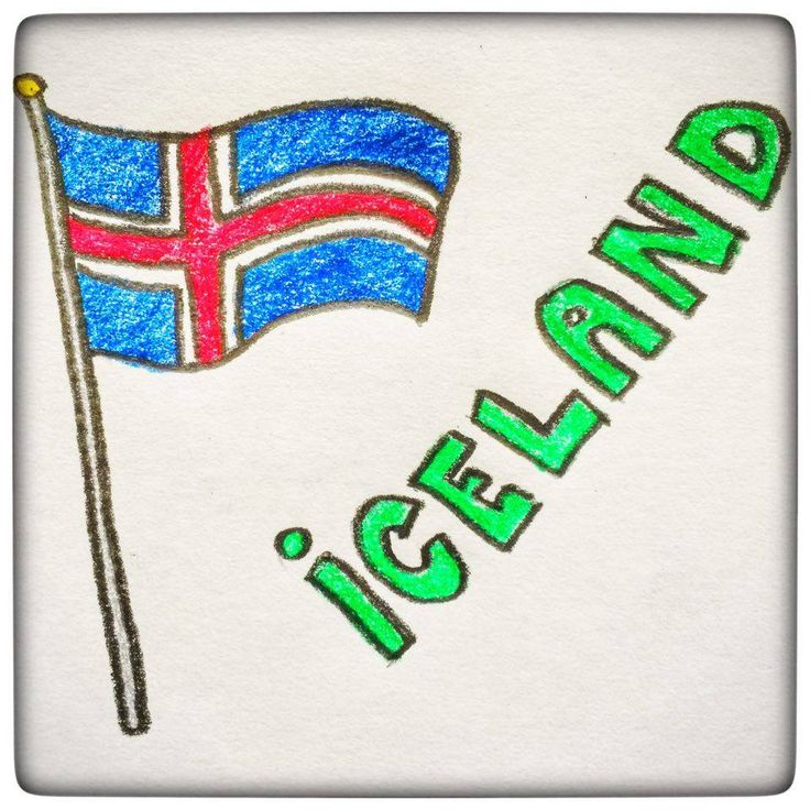 Did you know the significance of the colors the Iceland flag has? The red part is to symbolize the active volcanoes that are scattered all around Iceland. The blue is the surrounding Atlantic Ocean. And the white lines are the snow and the ice covering most of the country :)