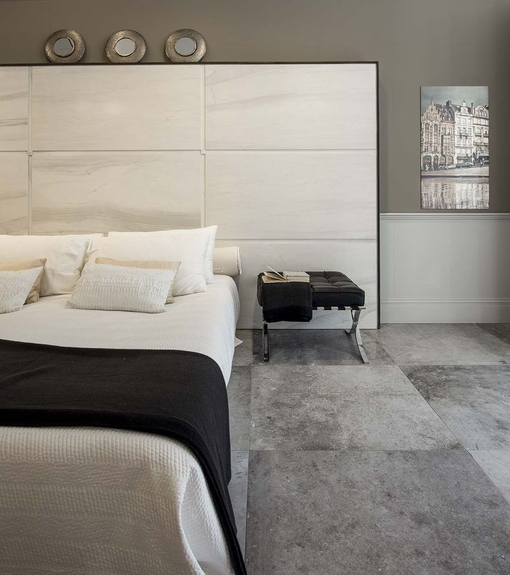 We love Rex for its sophisticated and classy style - who doesn't want to have this bedroom design?  #flooring #bedroom #grey